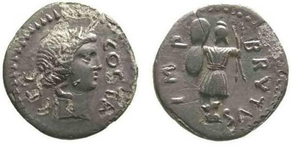 Brutus Trophy Denarius