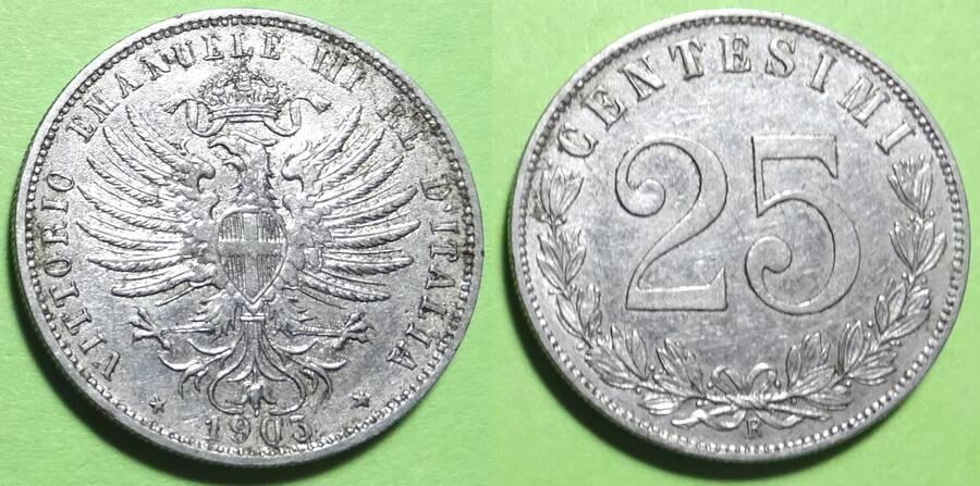 Italy 1903 25 centesimi