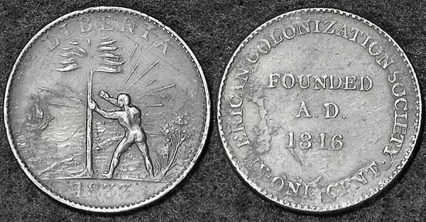 ACS Liberia cent 1833