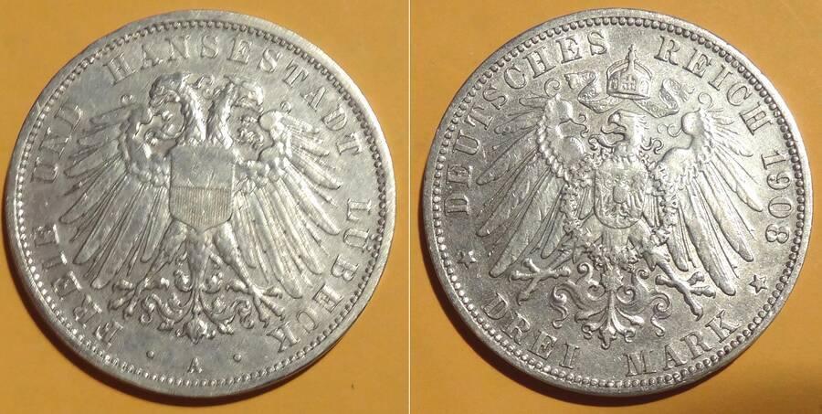 Lübeck 1903 3 Mark