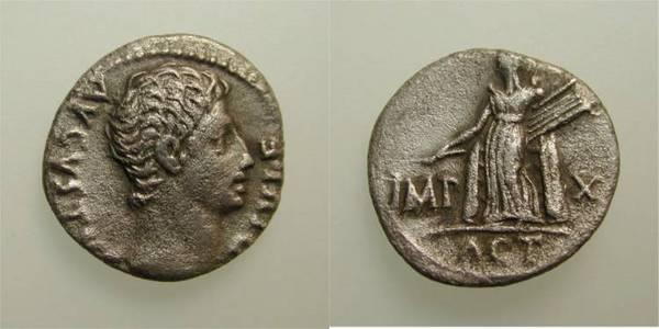 Augustus Actium Denarius