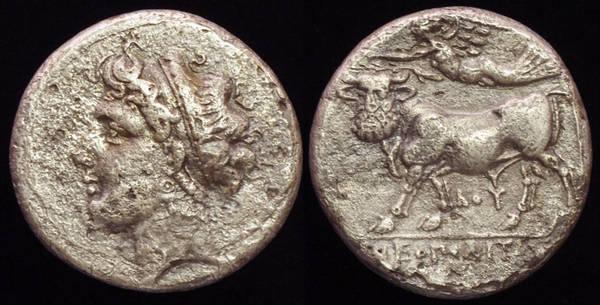 Neapolis - Man-headed Bull