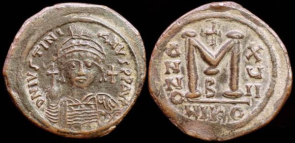 Justinian The Great, Follis
