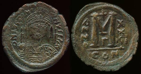 Justinian I - small Follis