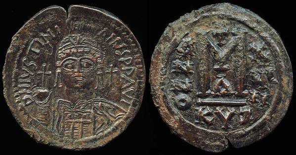 Justinian the Great - follis KYZ