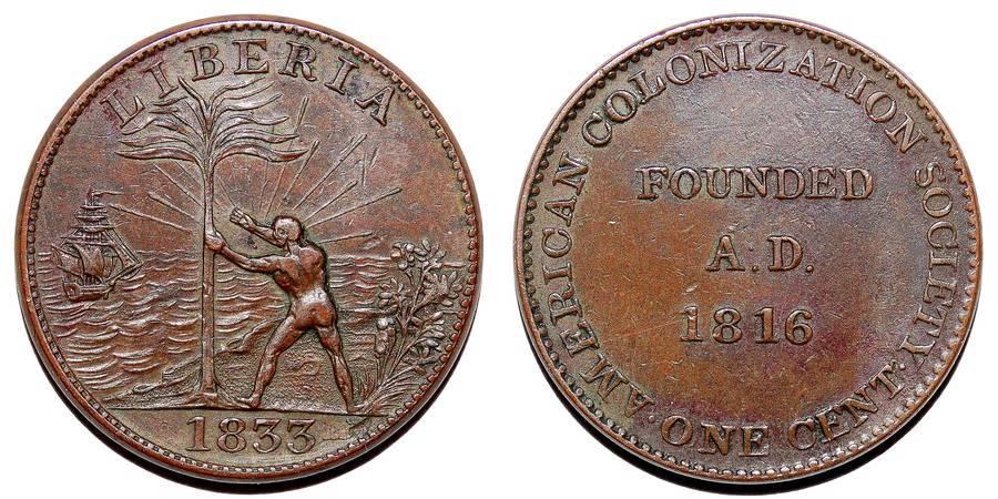 LIBERIA~1 Cent 1833