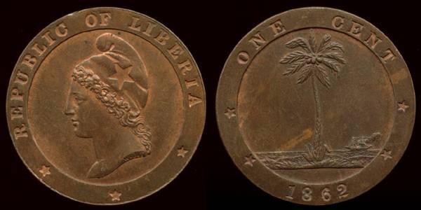 Liberia, 1 Cent, 1862