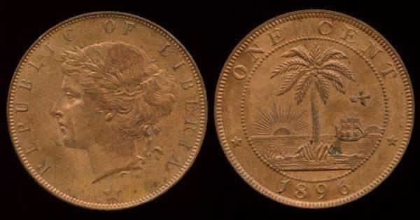 Liberia, 1 Cent, 1896