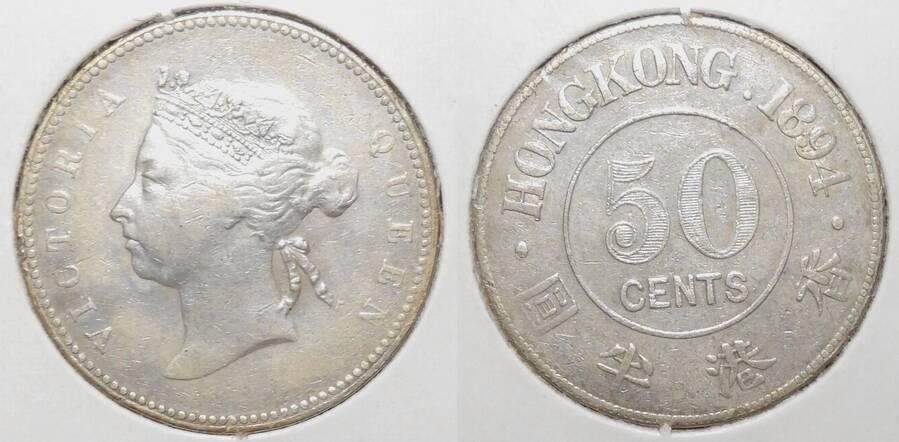 Hong Kong 1894 50 cents
