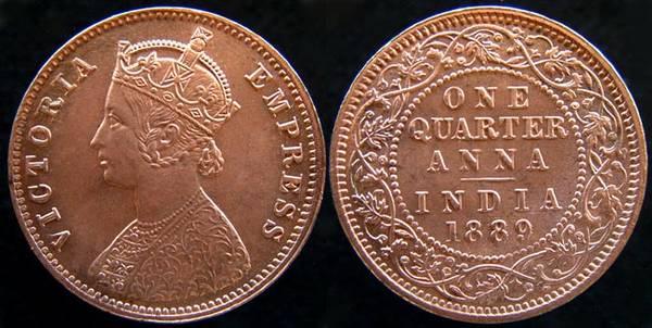 British India 1/4 Anna