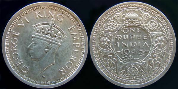 British India Rupee-1945