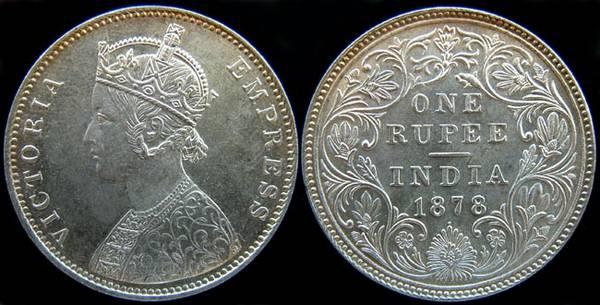 British India Rupee-1878