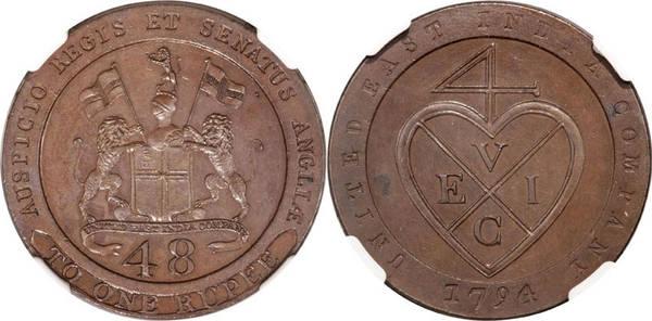 Madras Presidency 1/48 Rupee - 1794