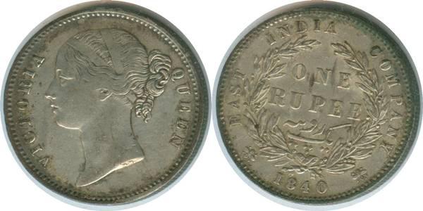 British India 1840 Rupee