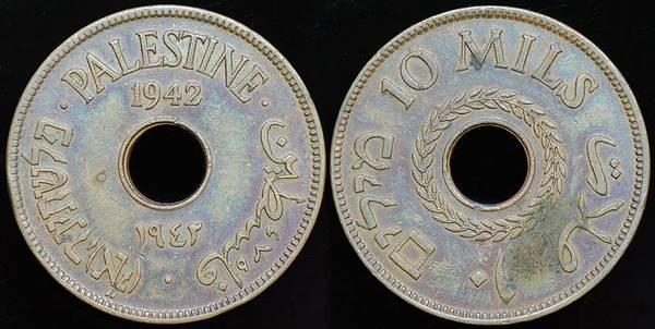 Palestine Mandate 10 Mils 1942