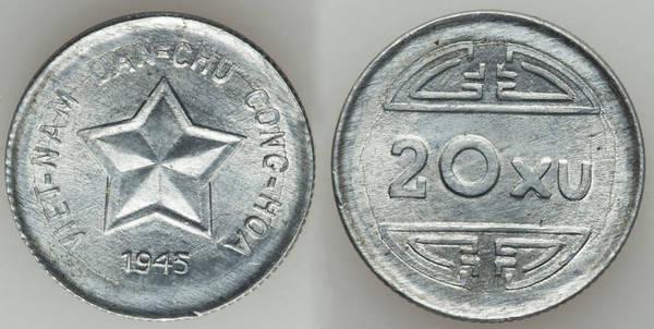 Vietnam 1945 20 Xu