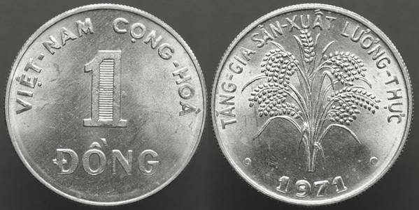 Vietnam, Rep. of [South] 1 Dong