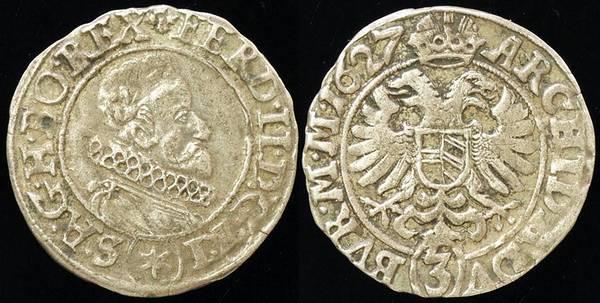 Austria 3 Kreuzer 1627