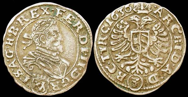 Austria 3 Kreuzer 1636