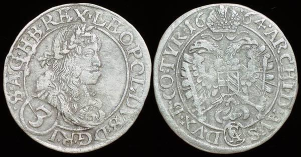 Austria 3 Kreuzer 1664