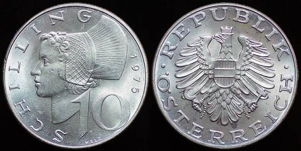 Maiden of Austria - 10 Schillings
