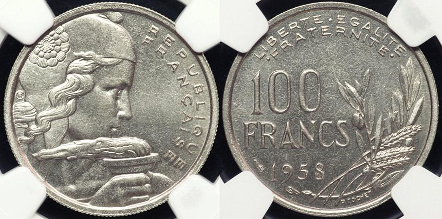 FR_100F_1958_MS64plus