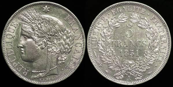 France 5 Fr 1851