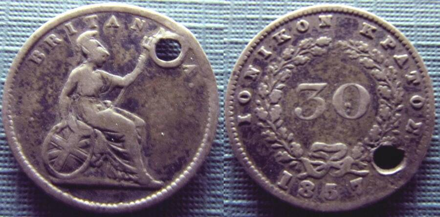 Ionian Islands (British) 1857 30 lepta