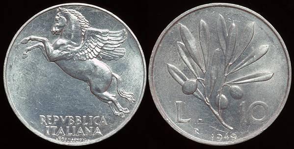 Italy 10 Lira 1949