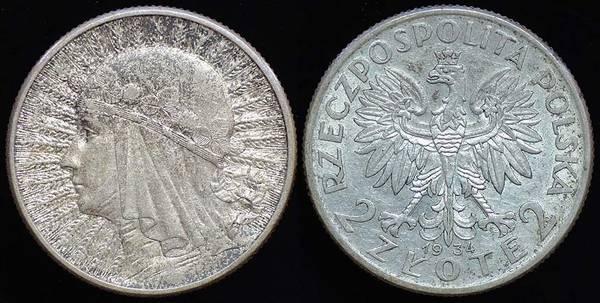 Poland 2 Zlote 1934