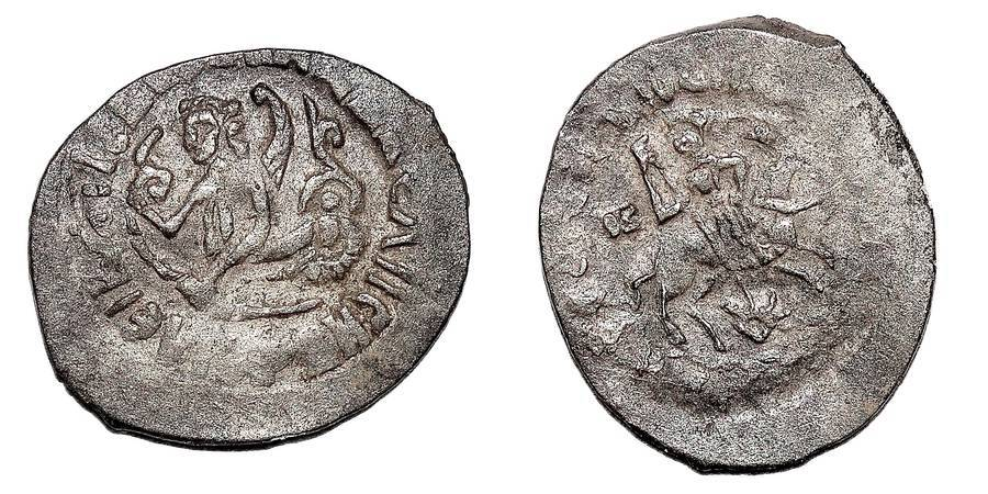 RUSSIA (GRAND DUCHY OF MOSCOW)~AR Denga 1425-1462 AD