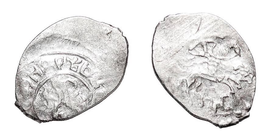 RUSSIA (MOZHAISK)~AR Denga 1389-1432 AD