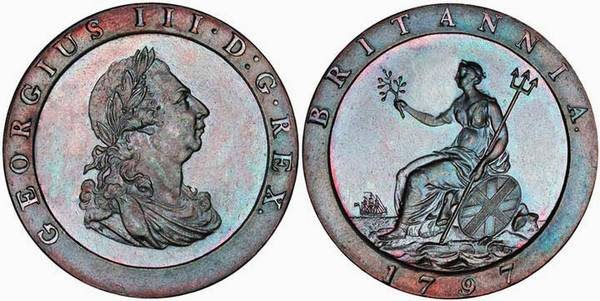 1797 Penny Cartwheel