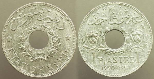 Syria Piastre 1940