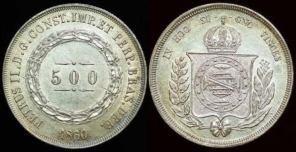 Brazil 500 Reis 1860/50