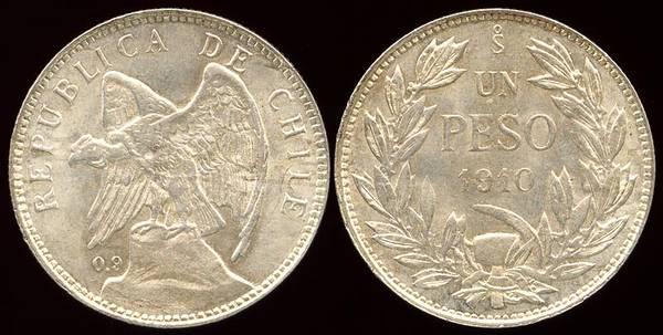 Chile Peso 1910