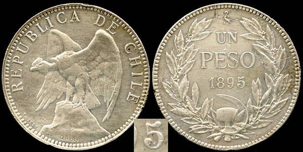 Chile Peso 1895