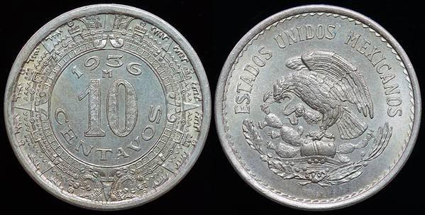 Mexico 10 C - 1936