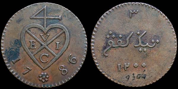 EIC Sumatra 3 K - 1786