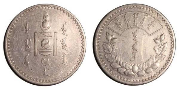 MONGOLIA (PEOPLES REPUBLIC)~1 Tughrik 1925
