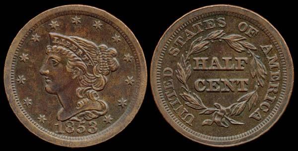Half Cent 1853
