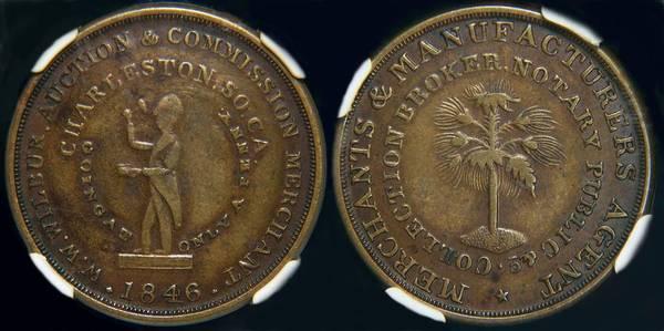 W.W. Wilbur - Slave Auctioneer 1846 Token