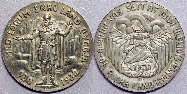 Iceland 5 Kroner - 1930 Althing Millennium