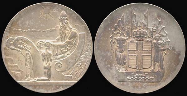 Iceland, Althing 10 Kronur 1930 Millennium