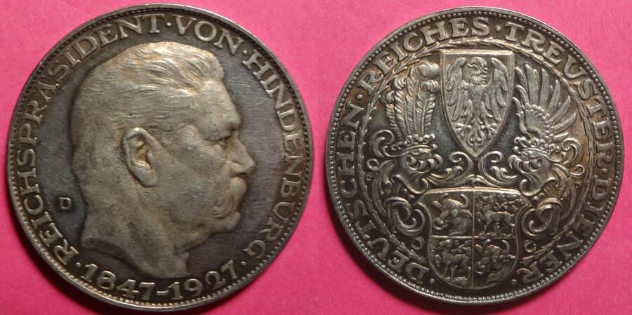 Germany Hindenburg Medal by Goetz 1927