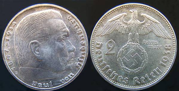 Nazi 2 RM 1938 E
