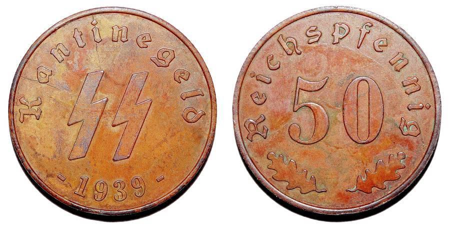 GERMANY (THIRD REICH)~50 Reichspfennig *Kantinegeld* 1939