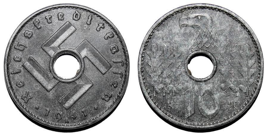 GERMANY (THIRD REICH)~10 Reichspfennig  1941 A