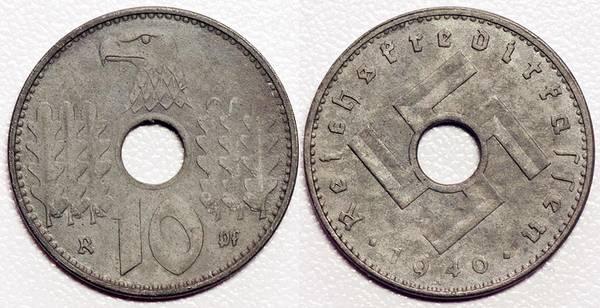 Nazi Army 10 Pfennig
