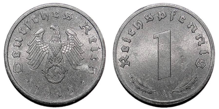 GERMANY (THIRD REICH)~1 Reichspfennig 1945 A